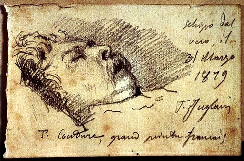 Deathbed sketch of the Great French Painter Thomas Couture by Juglaris