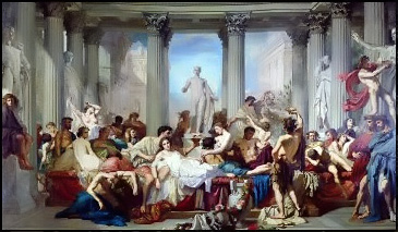 Romans of the Decadence, by Thomas Couture